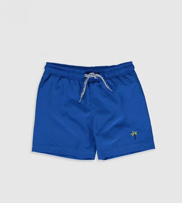 Woven Swimwear Swimsuit - Dark Blue