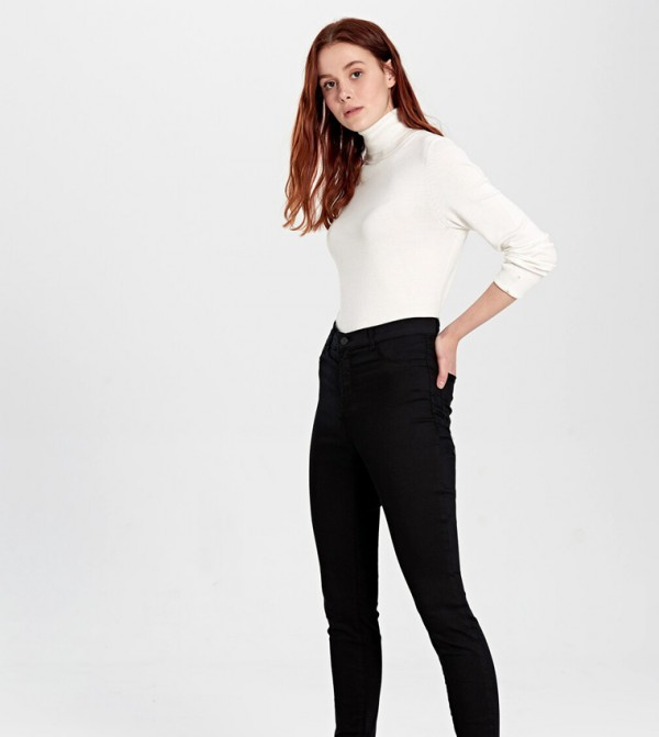 Woven Denim Trousers - Black Rodeo+M
