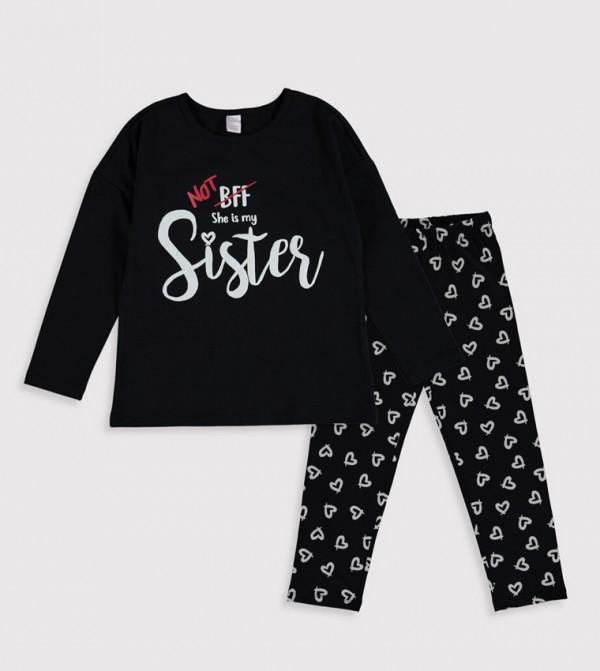 Key Pyjamas Set Long - New Black