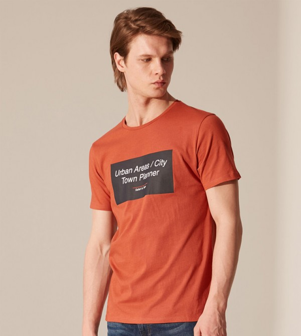 Jersey Body Tshirt Short Sleeves - Dark Orange