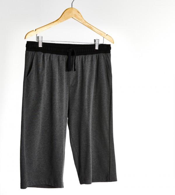 Male Plain Standard Thin Single Jersey Pyjamas Bottom-Anthracite