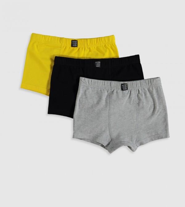 Cotton Boxer 3 Pieces-Yellow