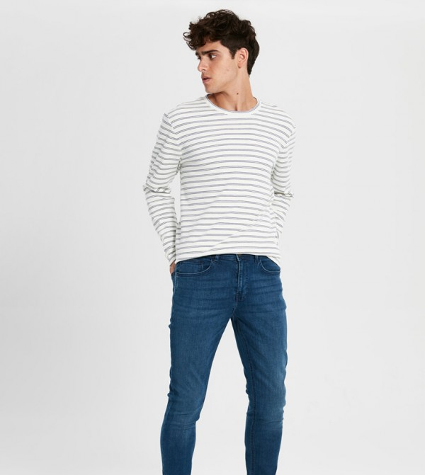 Woven Denim Trousers - Medium Rodeo