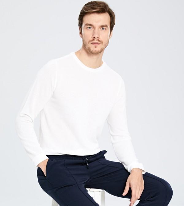 Jersey Body Tshirt Long Sleeves - Ecru
