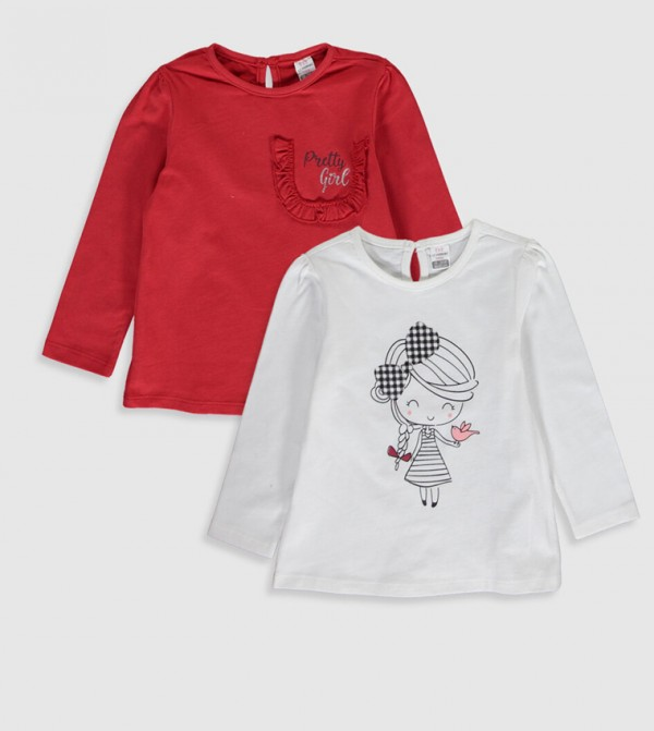 Jersey Body Tshirt Long Sleeves - Light Red