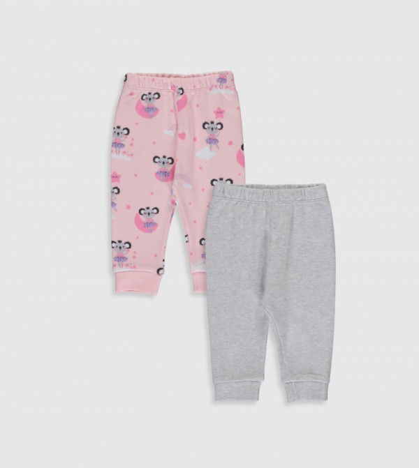 Baby Pajamas Lower - Offwhite Melange