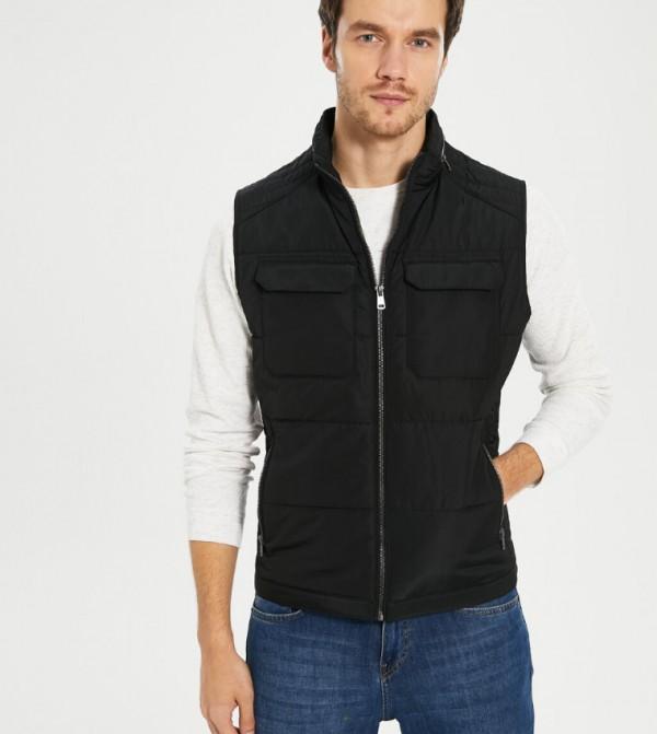 Woven Vest - New Black