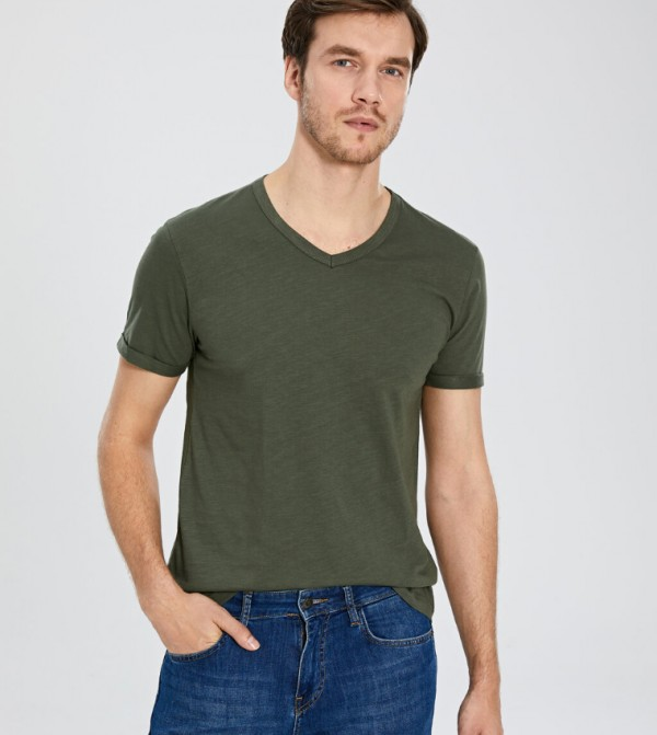 Jersey Body Tshirt Short Sleeves - Khaki