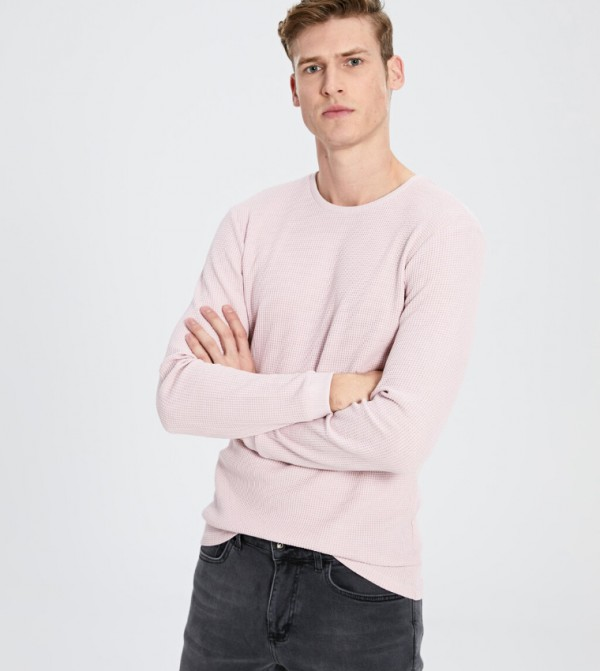 Jersey Body Tshirt Long Sleeves - Pink