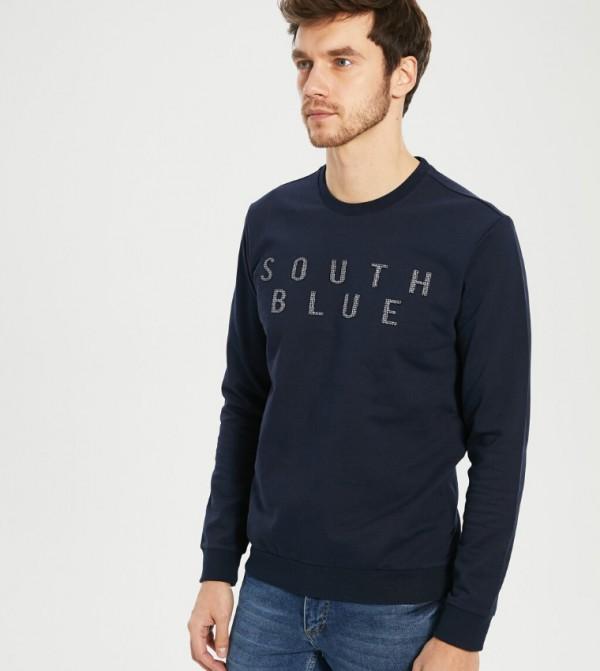Jersey Body Tshirt Long Sleeves - Navy