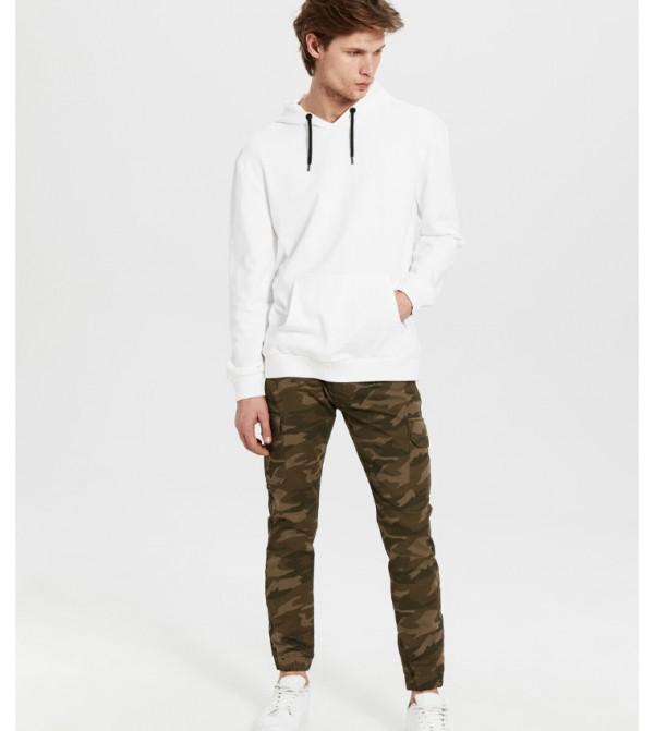 Woven Trousers - Khaki Printed