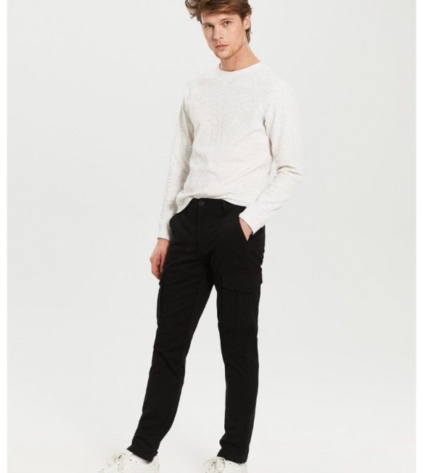 Woven Trousers - New Black