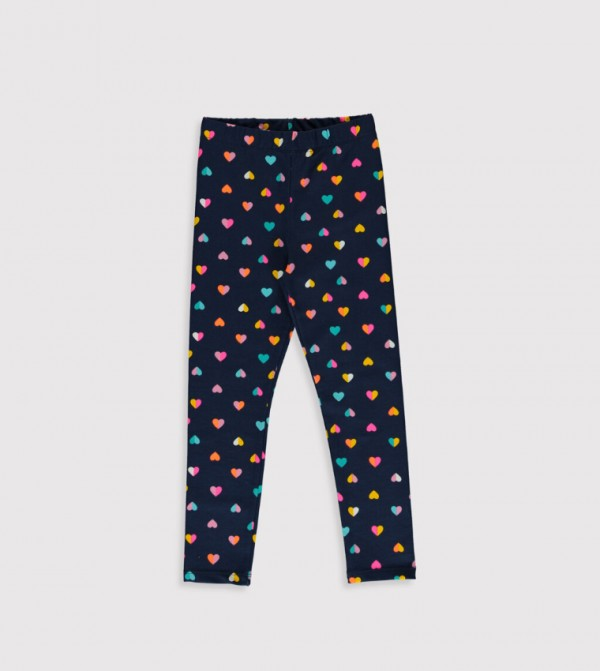 Jersey Trousers - Navy Printed