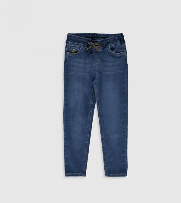 Woven Denim Trousers - Mid Rodeo