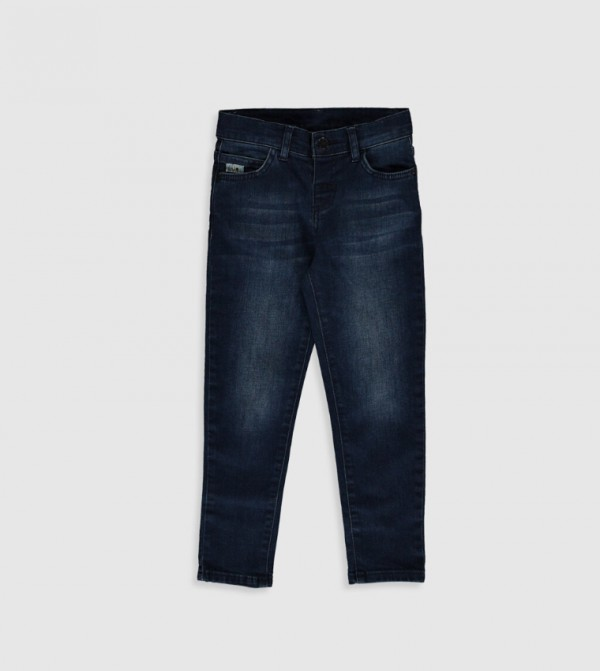 Woven Denim Trousers - Dark Rodeo