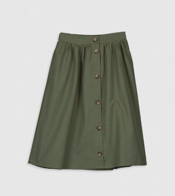 Woven Skirt - Khaki