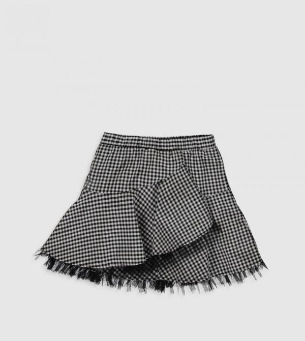 Woven Skirt - Black Checked