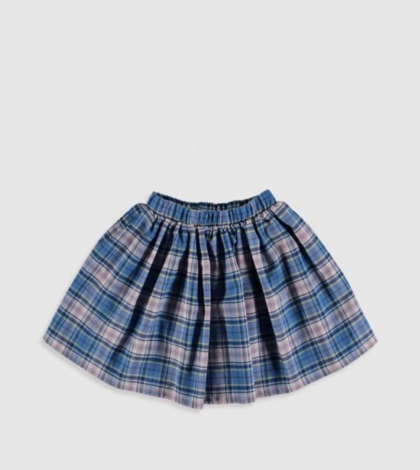 Woven Skirt - Blue Checked