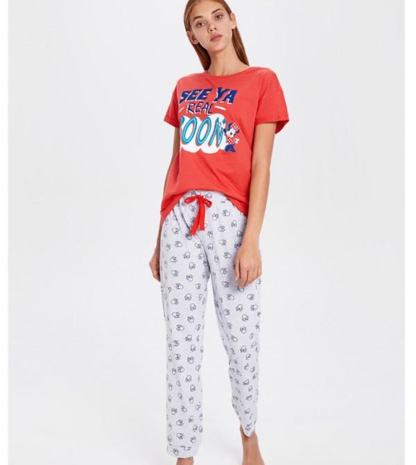 Key Pyjamas Set Short - Grey Melange