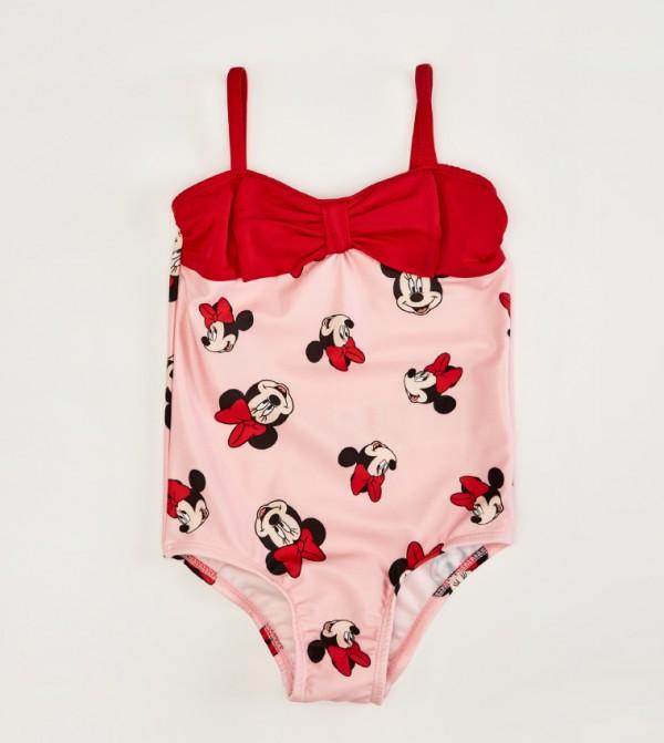 Printed Sleeveless Thin Swimsuit-Pink
