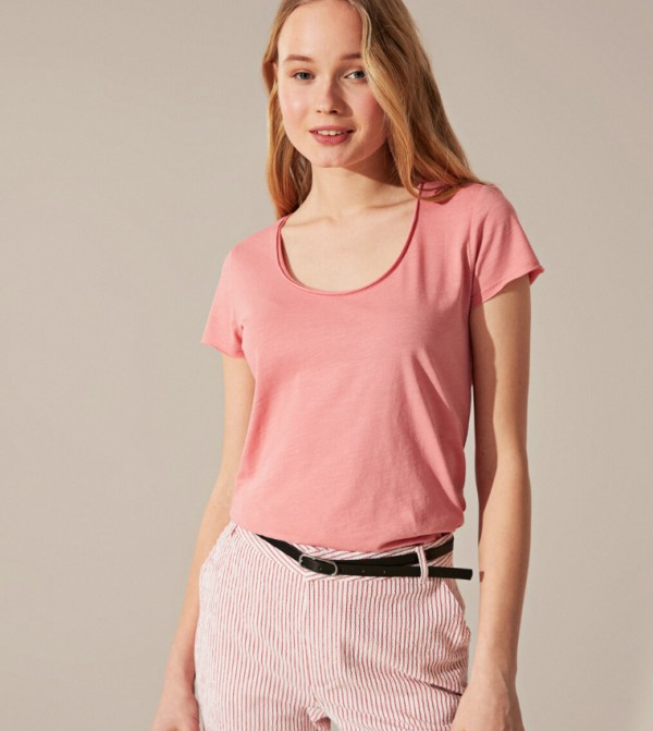 Jersey Body Tshirt Short Sleeves - Dull Pink