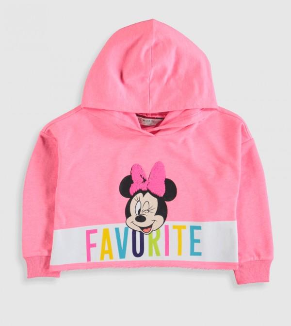Jersey Sweatshirt - Neon Pink