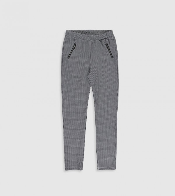 Jersey Trousers - Navy Striped