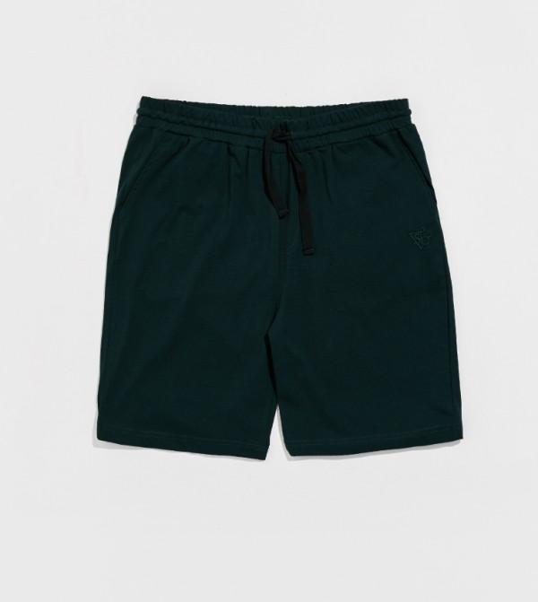 Male Plain Standard Thin Single Jersey Pyjamas Bottom-Green
