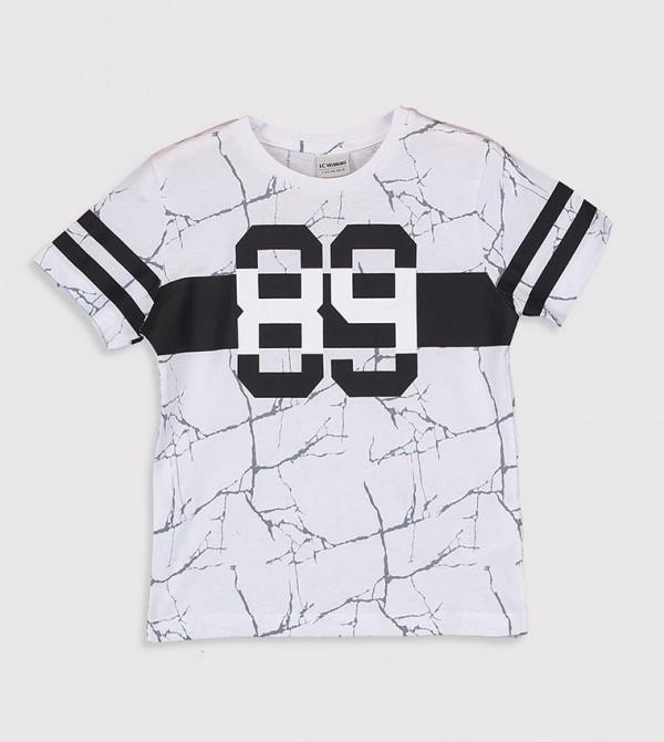 Regular Crew Neck T-Shirt-White