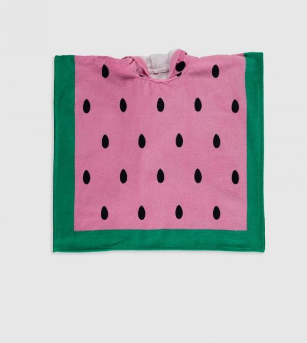 Printed Velvet Beach Towel-Pink