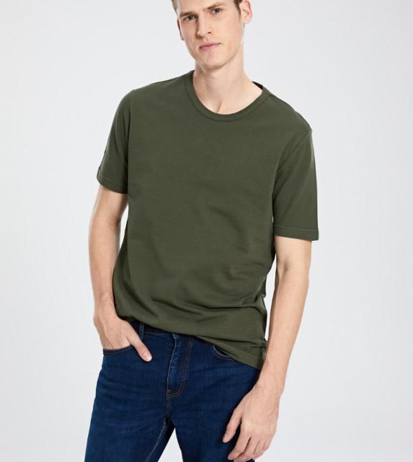 Jersey Body Tshirt Short Sleeves - Dark Green