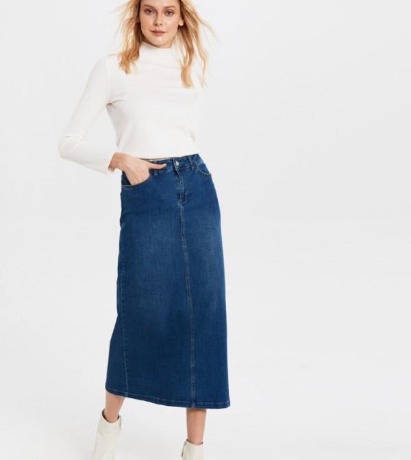 تنورة جينز منسوجة - متوسطة روديو