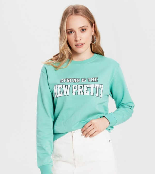 Jersey Body Tshirt Long Sleeves - Dull Green