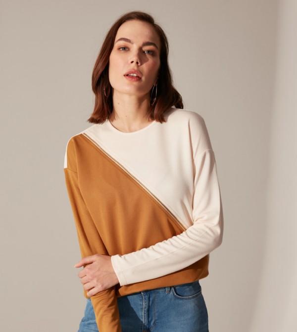 Jersey Body Tshirt Long Sleeves - Light Brown
