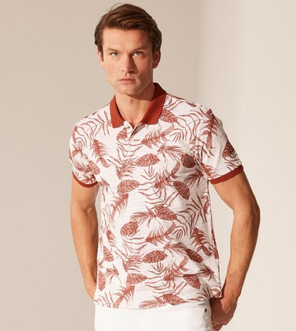 Jersey Body Tshirt Short Sleeves - Brick Printed