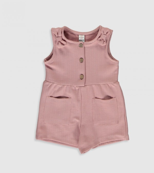 Jersey Overalls - Pink