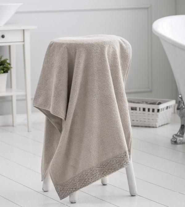 Erkek Bath Towel-Beige