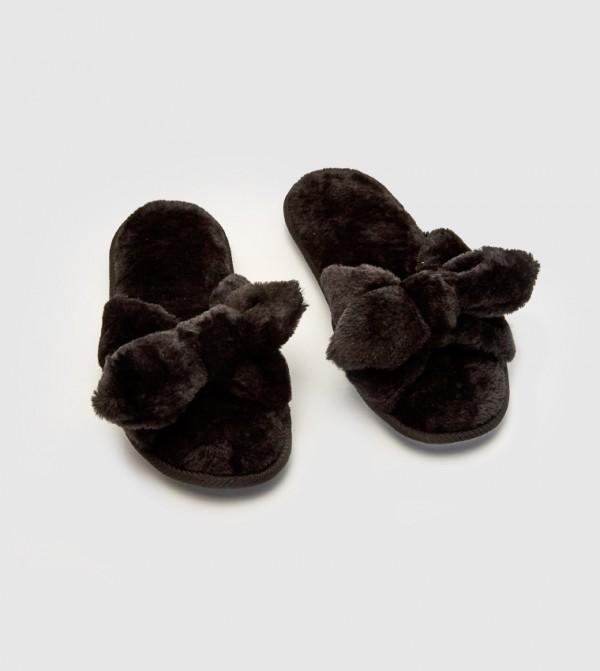 Velvet Slippers-Black