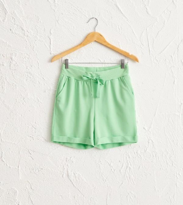 Standard Standard Medium Thickness Normal Rise 2 Thread Shorts-Green