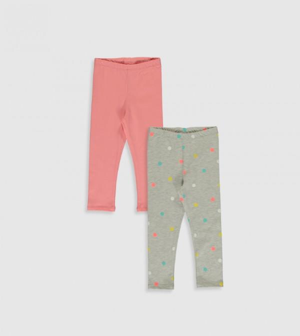 Printed Thin Single Jersey Leggings-Pink