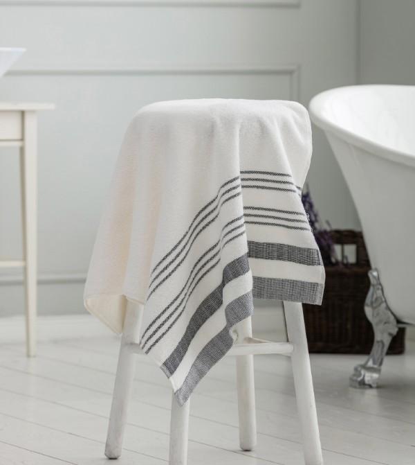 Erkek Terry Cloth Bath Towel-Ecru