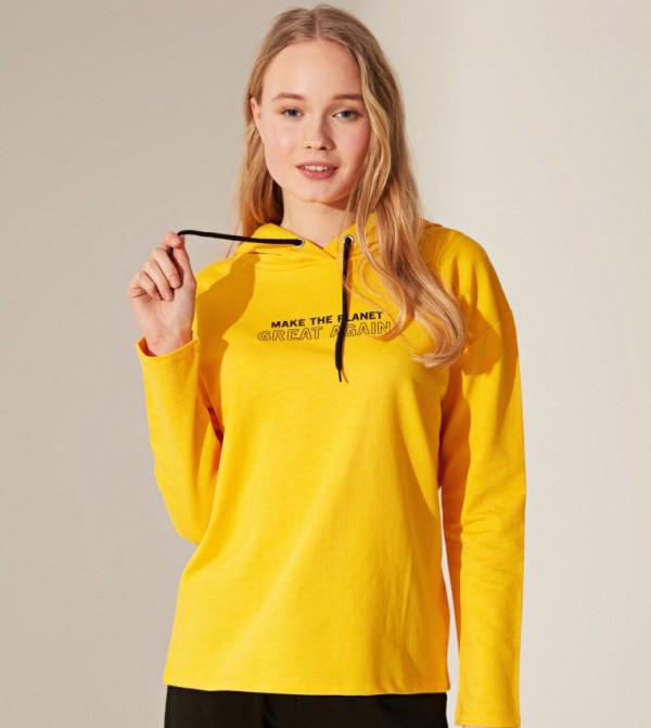 Jersey Body Tshirt Long Sleeves - Mid Yellow