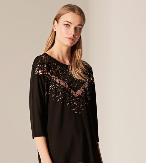 Jersey Body Tshirt Short Sleeves - New Black