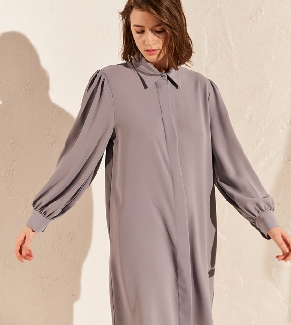 Standard Fit Mid Length Tunic-Cold Blue
