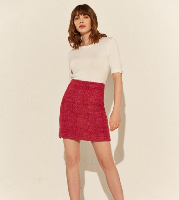 Woven Skirt - Fuchsia
