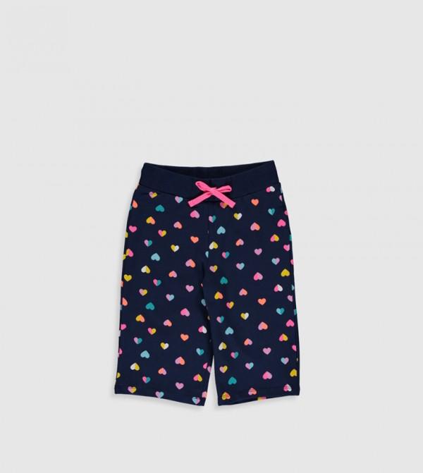 Jersey Shorts - Dark Navy Printe