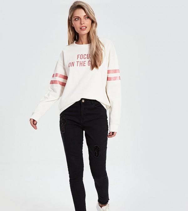 Woven Denim Trousers - Black Rodeo