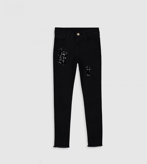 Woven Denim Trousers - Black Rodeo