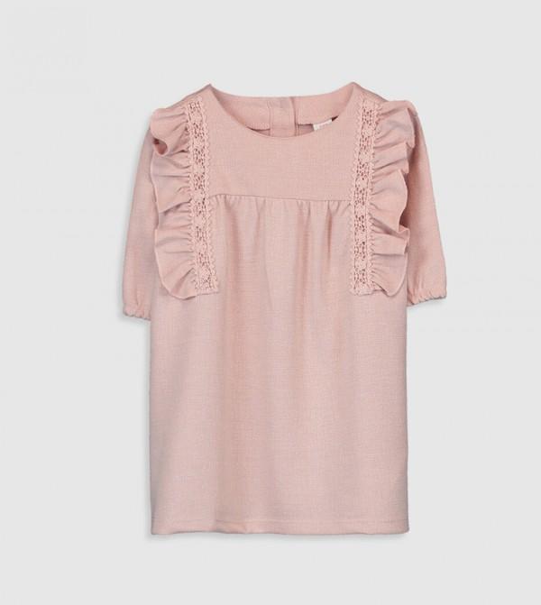 Long Sleeves Jersey Dress - Pink
