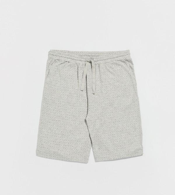 Male Printed Standard Thin Single Jersey Pyjamas Bottom-Grey